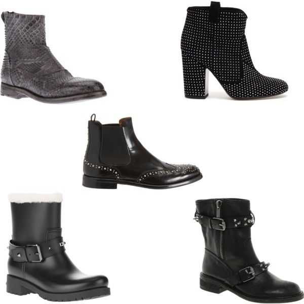 """Top 5 boots"" by stockholmmarket on Polyvore"