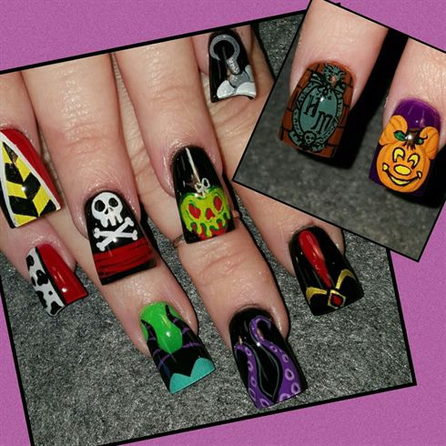 Disney villains by Oli123 from Nail Art Gallery (With ...
