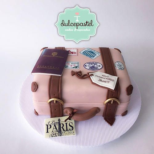 Suitcase Cake - Torta Maleta - Cake by Giovanna Carrillo