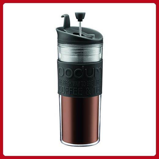 Bodum Travel Tea and Coffee Press, Plastic Insulated Travel Mug, Black, 15 Ounce - Refine your workspace (*Amazon Partner-Link)