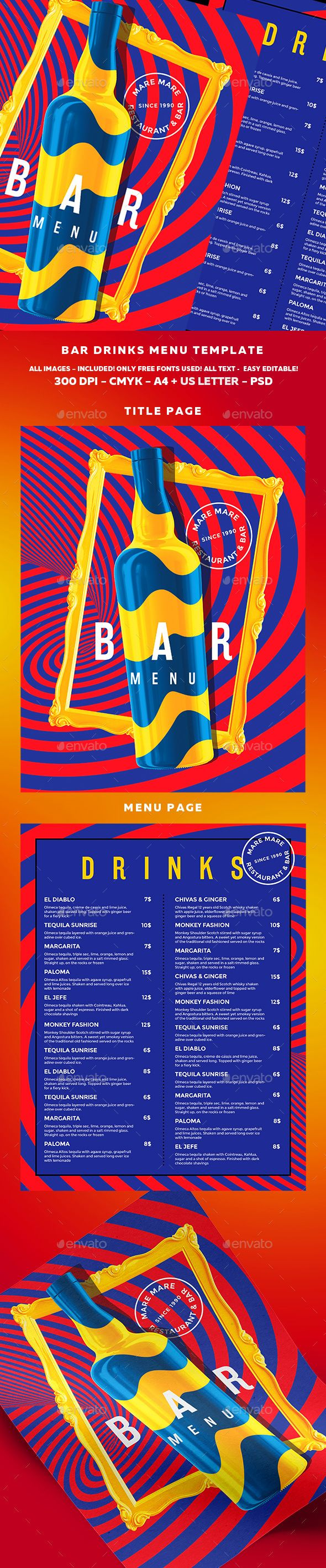 The 25 best Free menu templates ideas – Cocktail Menu Template Free Download
