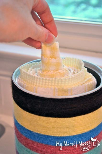 cloth paper towels- No sew, no snaps, no velcro- just some towels (or thrifted terry cloth) + oatmeal tube + small waste basket. This seems within reach.
