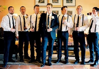 Groomsmen attire will definitely have suspenders!