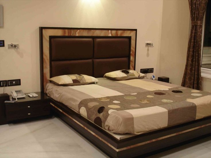 Master bedroom design by arpita doshi interior designer for Bedroom bed designs images
