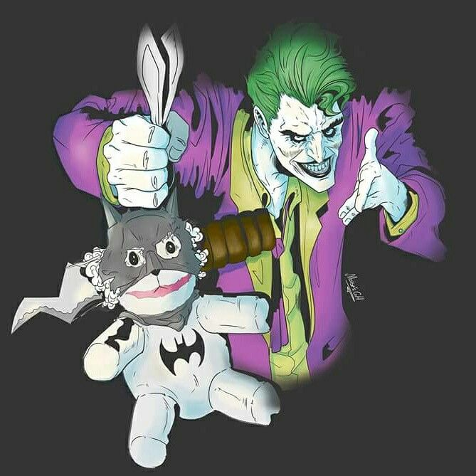 Joker and natman teddy by moisesgh