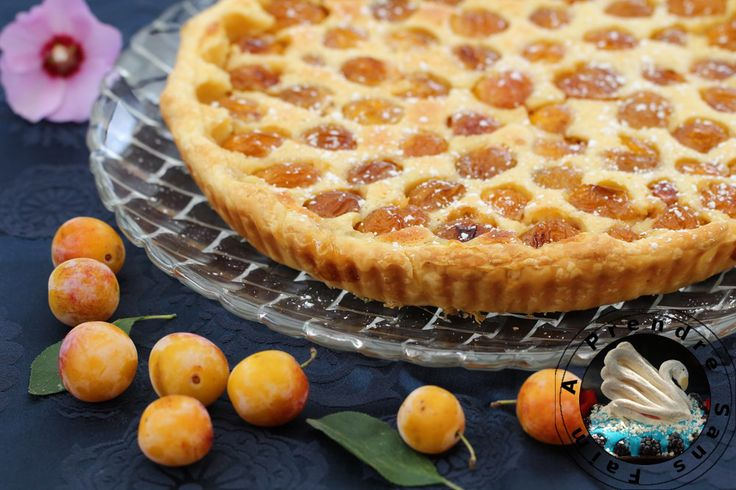 Tarte mirabelles à la crème d'amandes http://www.aprendresansfaim.com/2014/08/tarte-mirabelles-la-creme-damandes.html
