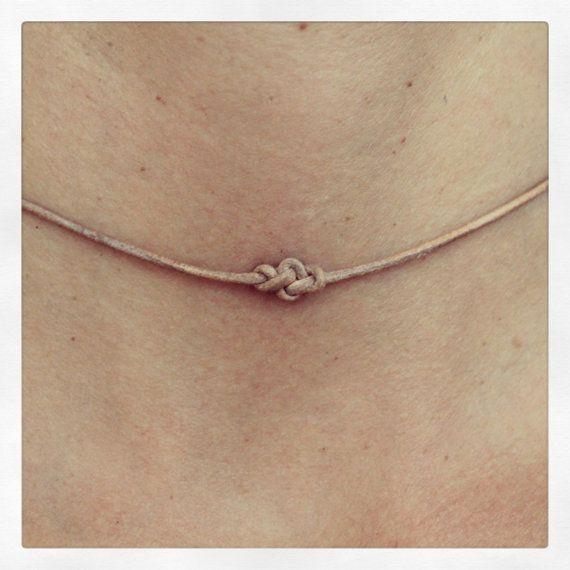 Halskette-Infinity 01 Silber Leder handgefertigt  von cololinks