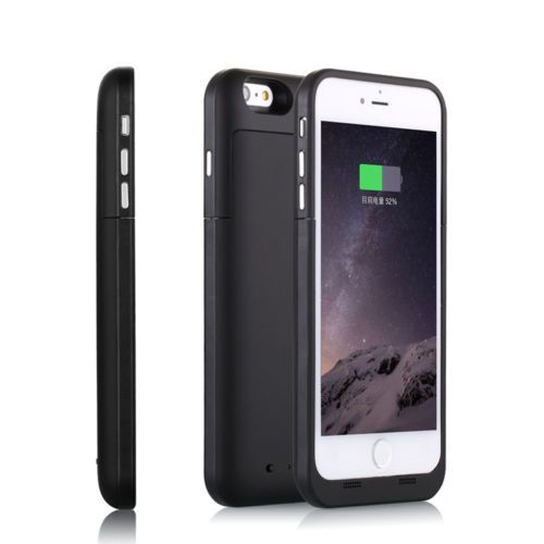 Black coloured charging case for iPhone 6 6s model mobile phones available from our webstore