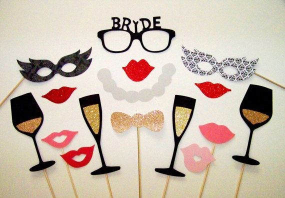 Wedding Photo Booth Props 16 pc Bride Photobooth by PimpYourParty, $26.00