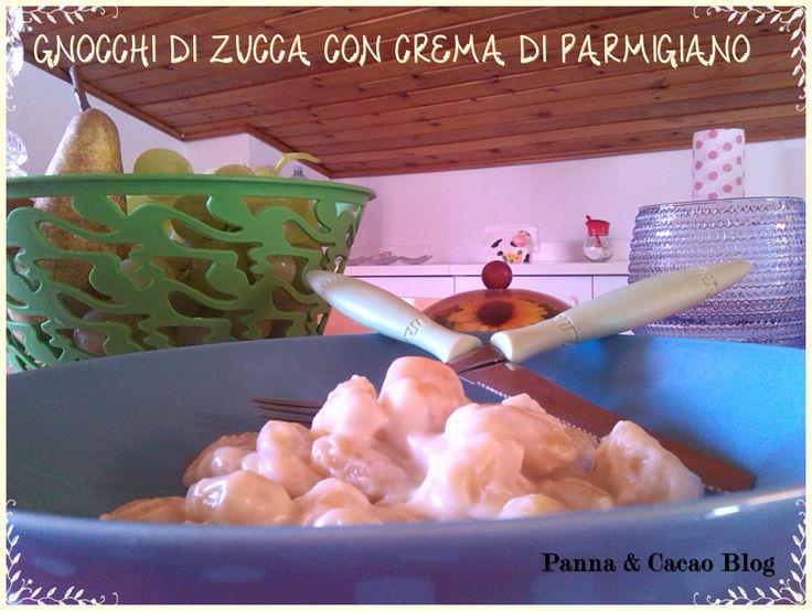 Gnocchi di zucca con crema di parmigiano