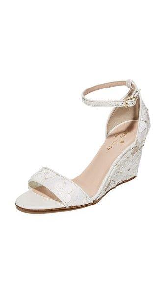 KATE SPADE Roosevelt Lace Wedges. #katespade #shoes #wedges