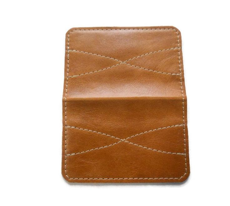 Leather Business Card Wallet, Leather Credit Card Holder, Minimalist Slim Wallet, Made in USA