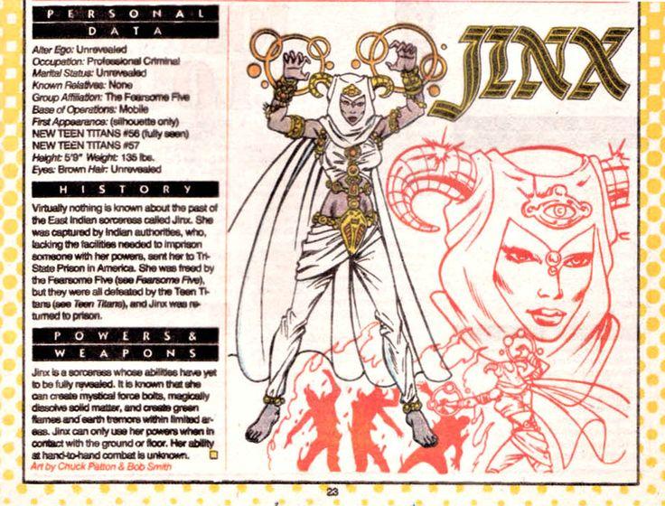 Jinx DC Comics | Jinx (ficha dc comics)