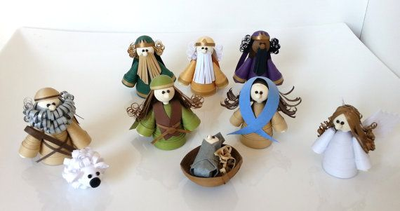 Christmas Nativity Set Christmas Decor Nativity Scene Paper