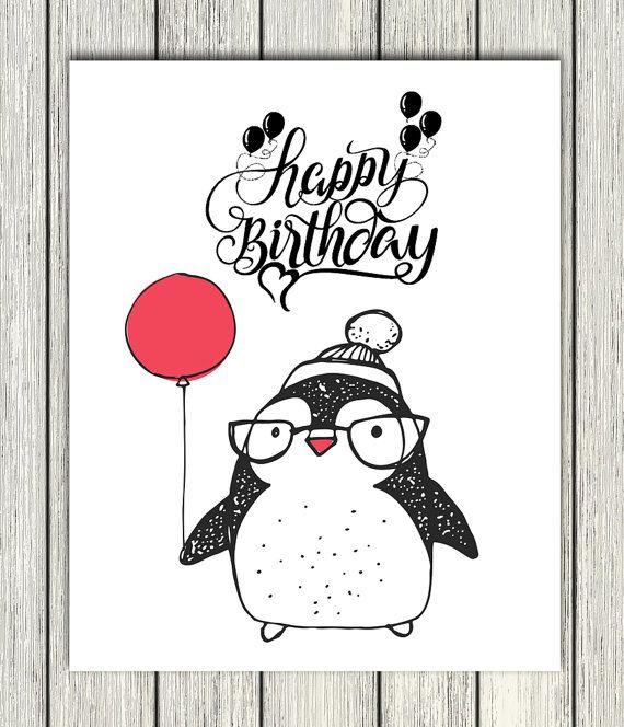 Happy Birthday Printable, Happy Birthday Prints, Nursery
