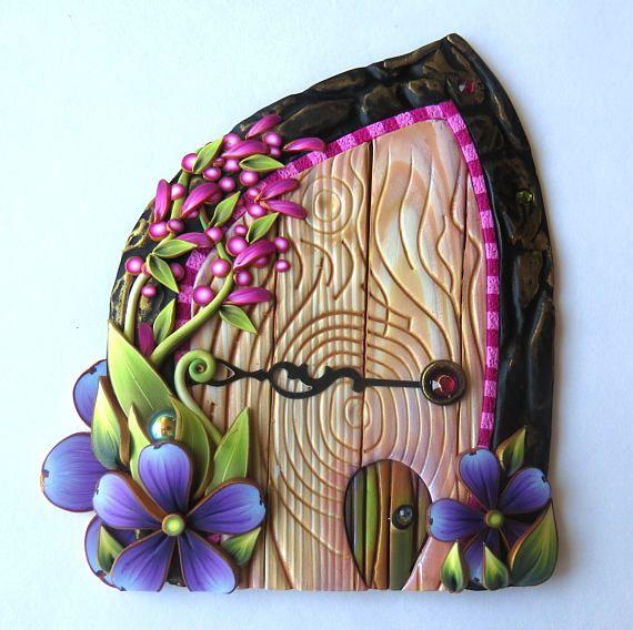 25 best ideas about pet door on pinterest dog rooms for Purple fairy door