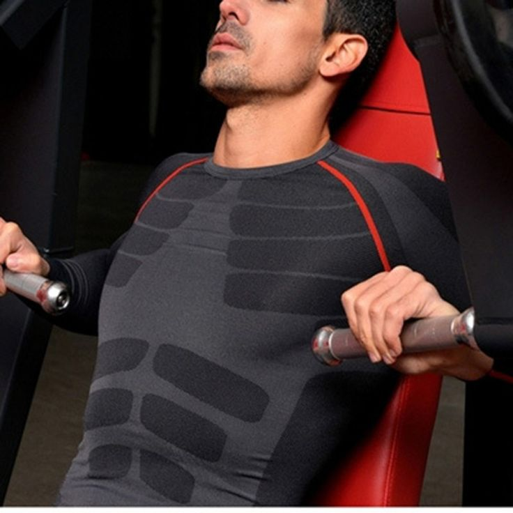 Men's Breathable Compression Base Layer Quick Dry Long Sleeve Sports Gear Shirts