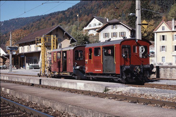 SBB Tm II 622 (17.10.1989, Noiraigue, mit Tm II 666)