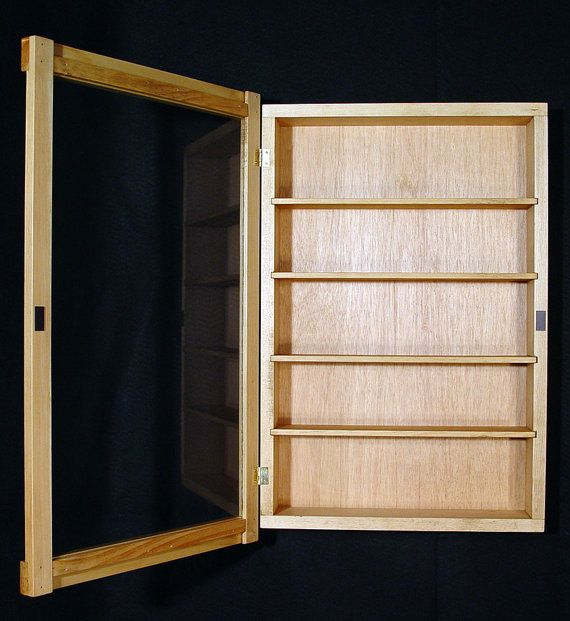 Wall Curio Cabinet display case shadow box by wayne2k on Etsy, $52.00