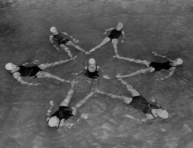 peace synchronized swimming - Google Search