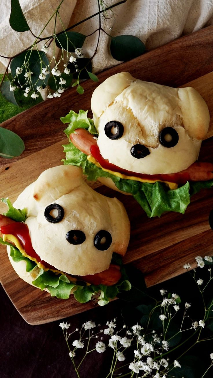 Sausages inside of puppy-shaped bread buns are just too doggone adorable.