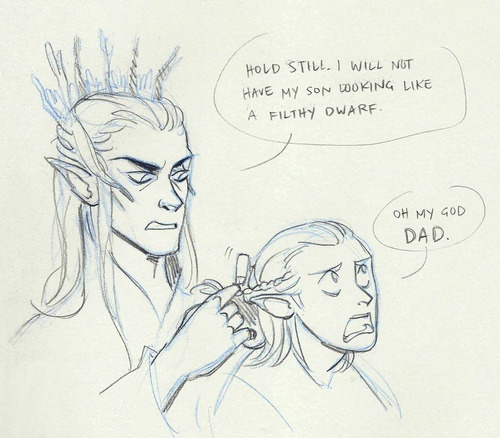 AND DON'T FORGET TO MOISTURIZE! #Hobbit #Thranduil #Legolas