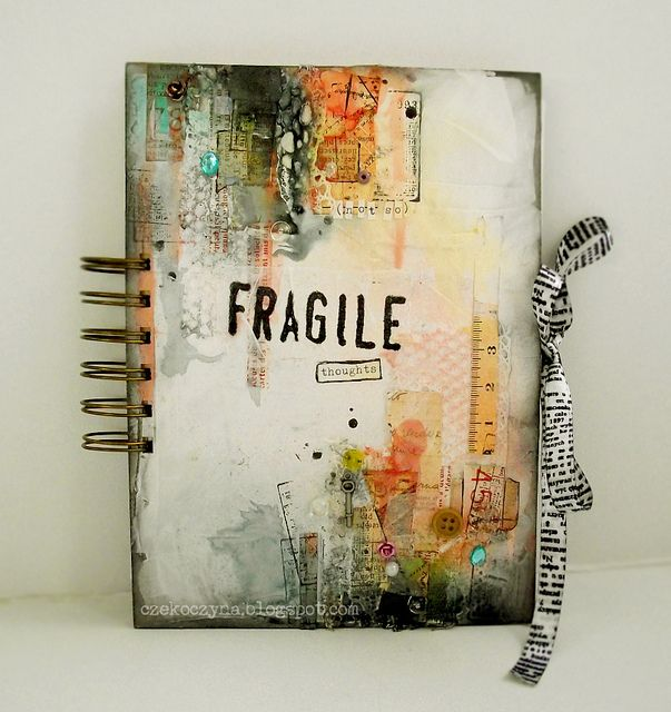 . Love the collage & mixed media going on on the cover of this journal! I feel an inspired painting coming on!