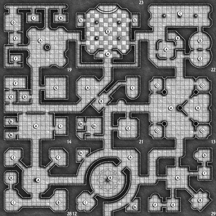 Miniature+Terrain+Dungeon | Map-a-Monday (week 29)