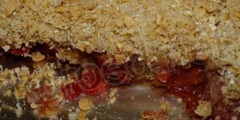 Быстрый вишневый пирог на кефире