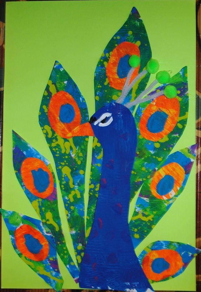 Eric Carle Inspired Peacock