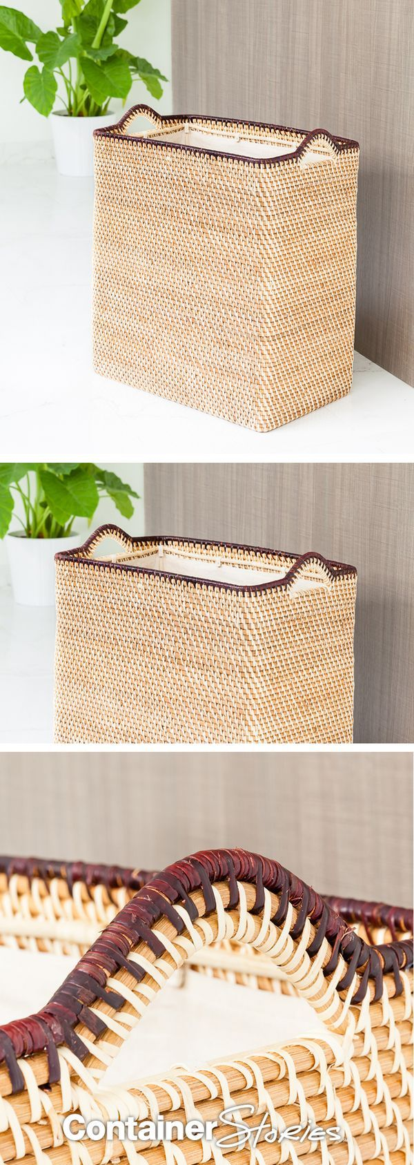We're bringing woven back with our Rattan Hamper! Shop this beauty before it's gone!