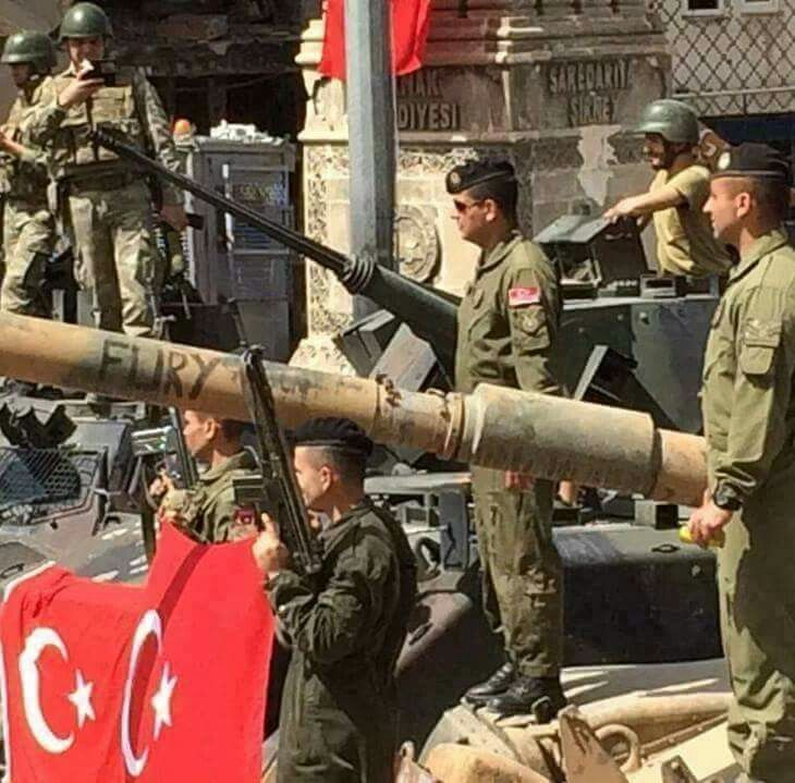 "Turkish Army M60A3 Tank in Utkrye with ""Fury"" symbol."