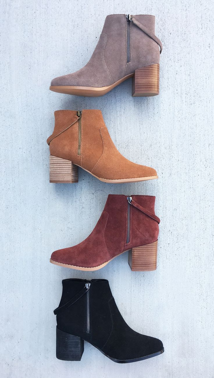 Double zip suede booties