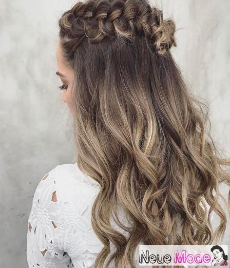 Abiball frisur lange haare offen