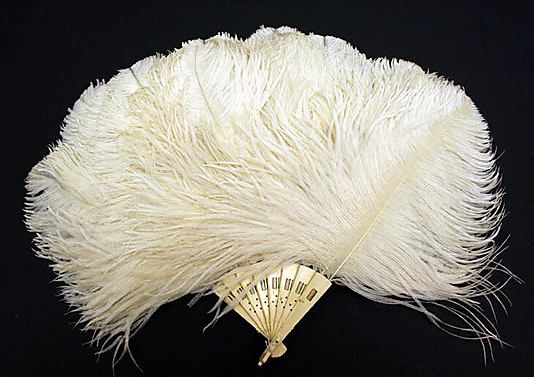 Ivory And Feather Fan - American Or European   c. Mid 19th Century  -  The Metropolitan Museum Of Art