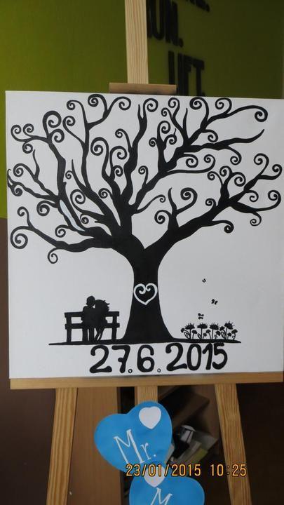 svadobny strom na platne