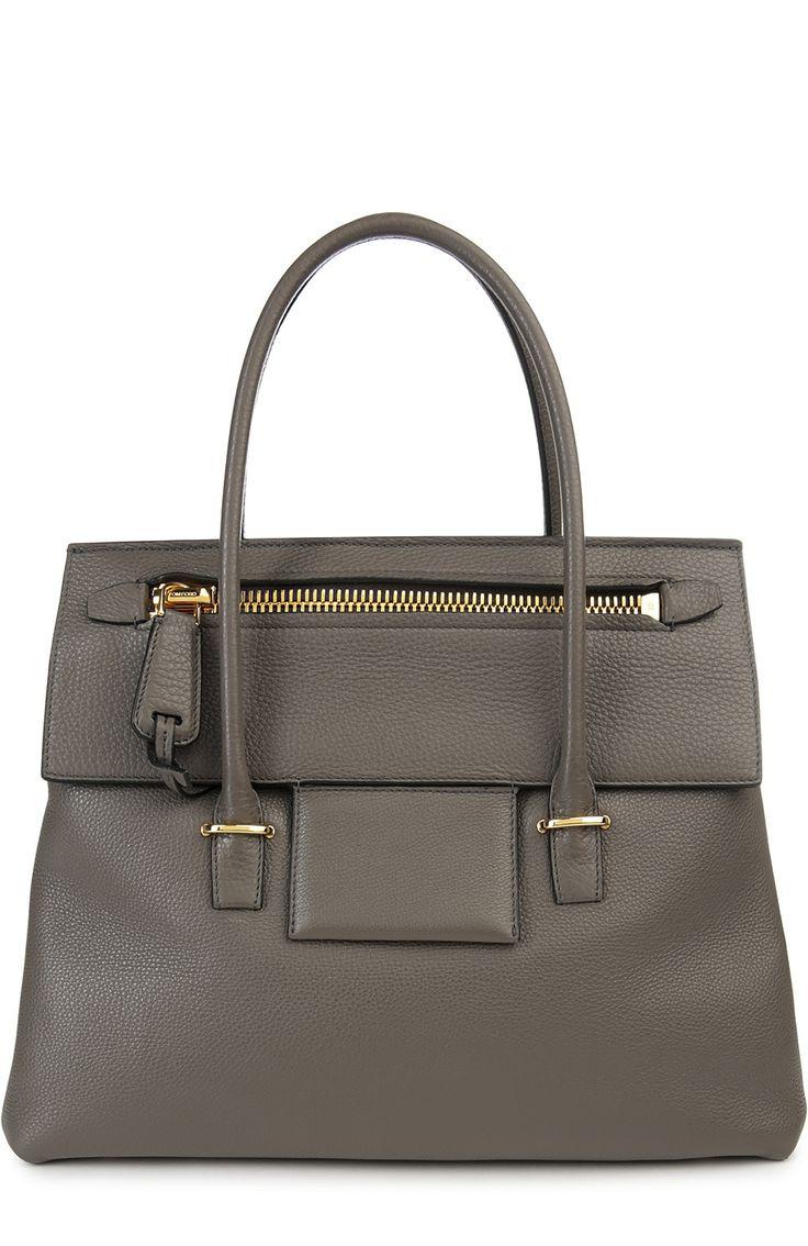 Женская серая сумка Tom Ford, сезон SS 2016, арт. L0683T/GLT купить в ЦУМ   Фото №1