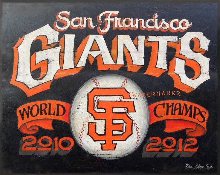 San Francisco Giants baseball Poster,16 by 20 inch, Poster/ Laminated Print / Etsy/ ZekesAntiqueSigns
