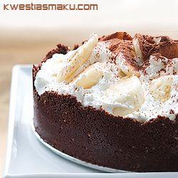 Tarta kajmakowa z czekoladą.