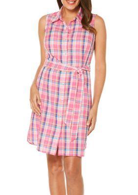 Rafaella Women's Madras Shirt Dress - Popsicle - Xl