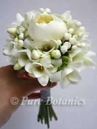 Tiny posy of freesia, peony, bouvardia ~Bridesmaids