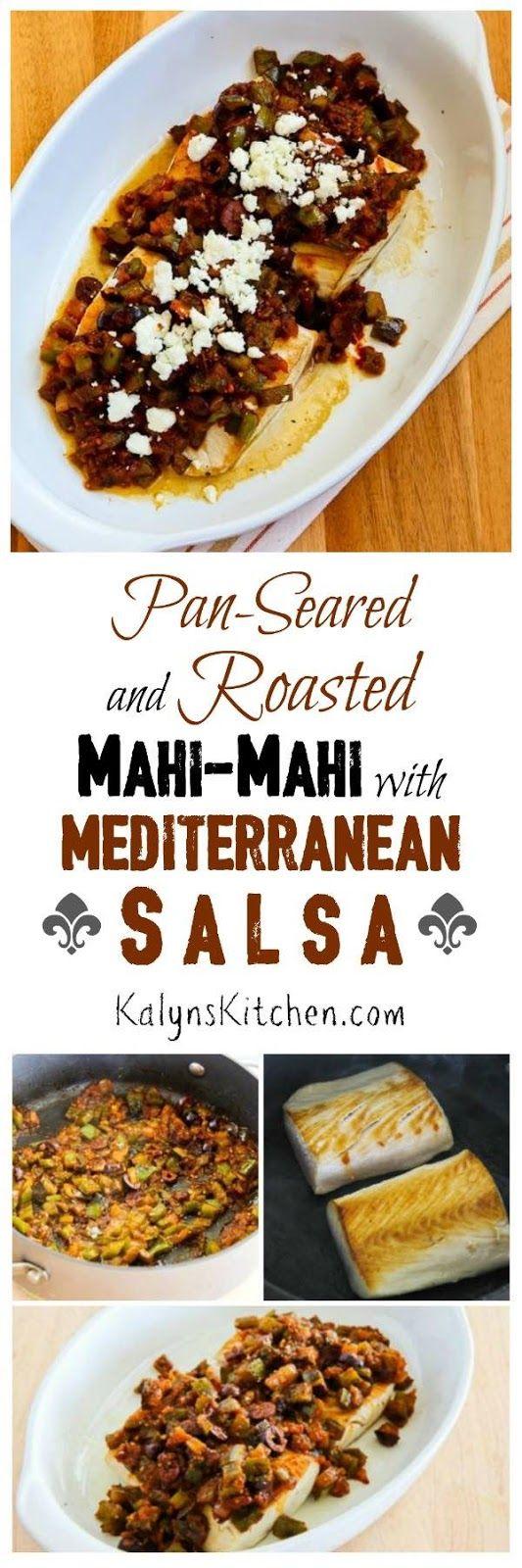 Pan-Seared and Roasted Mahi Mahi with Mediterranean Salsa and Feta
