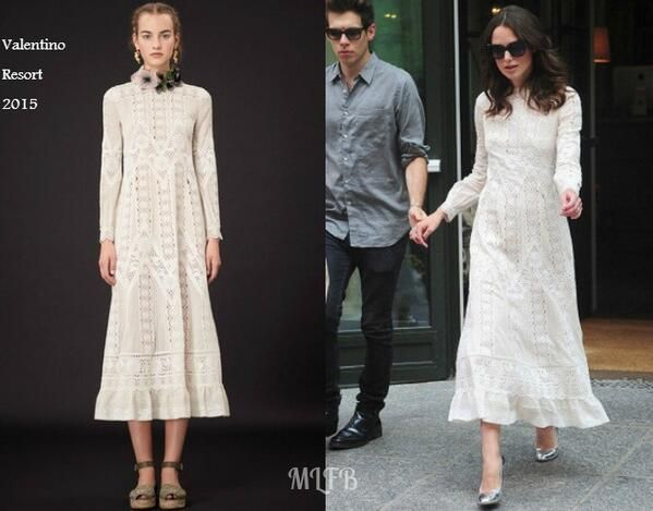 Keira Knightley In Valentino Resort - Out & About New York City. Re-tweet and favorite it here: https://twitter.com/MyFashBlog/status/482008337114882049/photo/1
