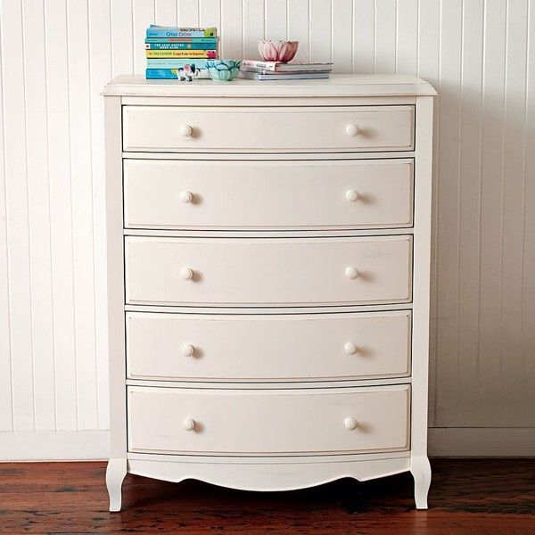 Pb Teen Lilac Tall Dresser Vintage Simply White At