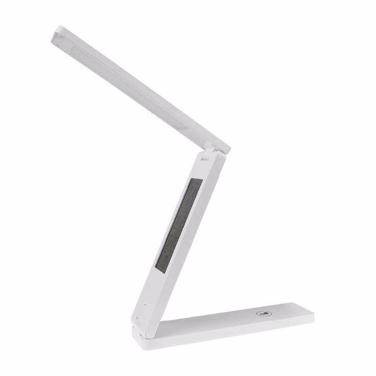 1x 18 LED Super Brightness Desk Lamp Foldable Eye Caring Reading Light Alarm Clock Calendar Temperature Display Table lights