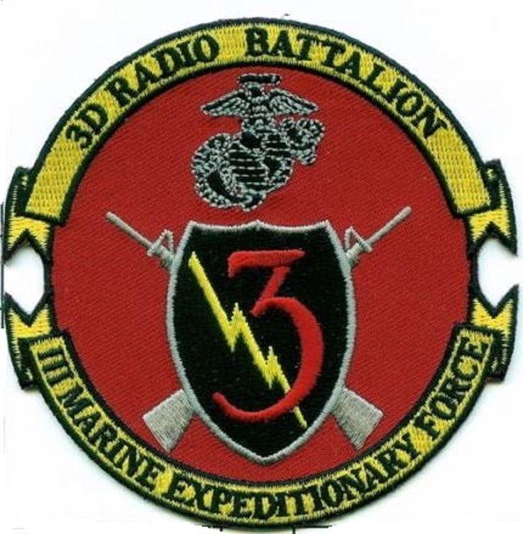 USMC 3rd Radio Battalion new logo! round PATCH Communications 3d Rad Bn III MEF