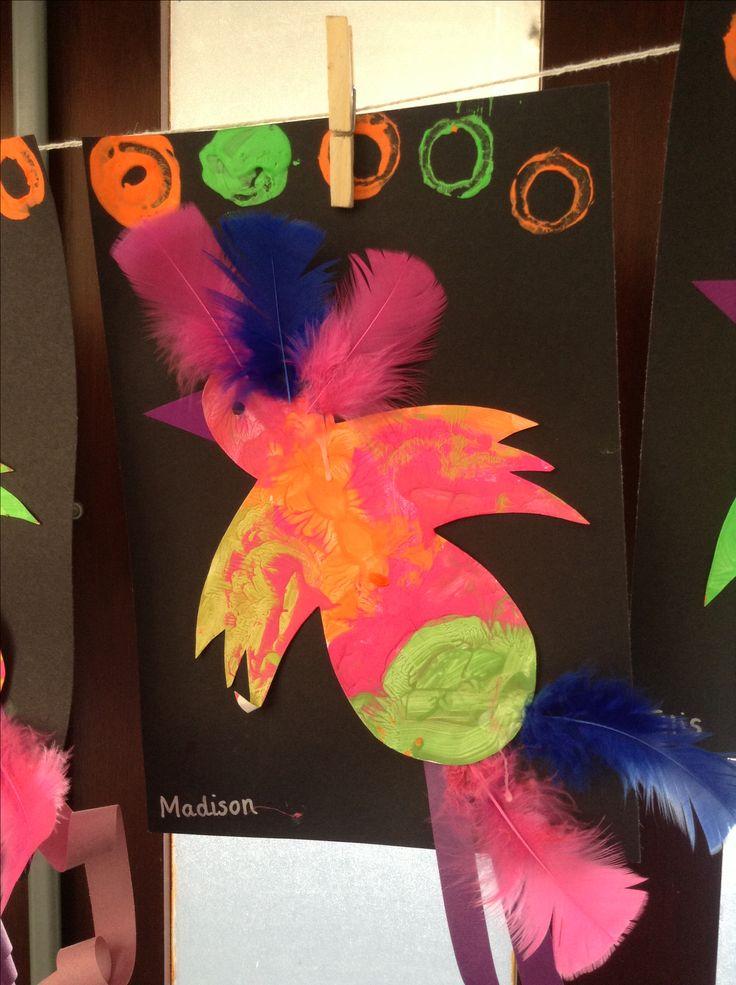 Aboriginal art- how the bird got its colours