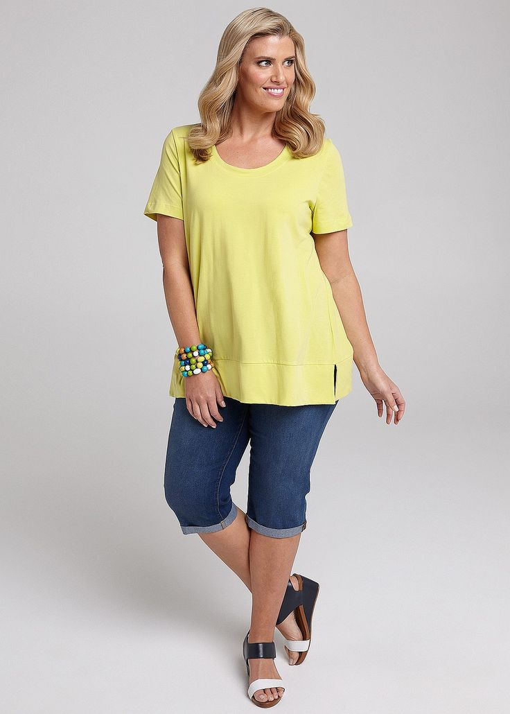 Everyday Short Sleeve Top #takingshape #plussize #curvy #virtuelle