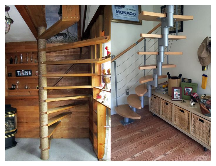 Genial Before: Pieces Of Wood Attached To A Central Post And Nailed To The Wall.  After: Our Modular Stairs Special Ordered At Loweu0027s, By Dolle.