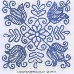 Eredeti kalotaszegi kék varrottas minta